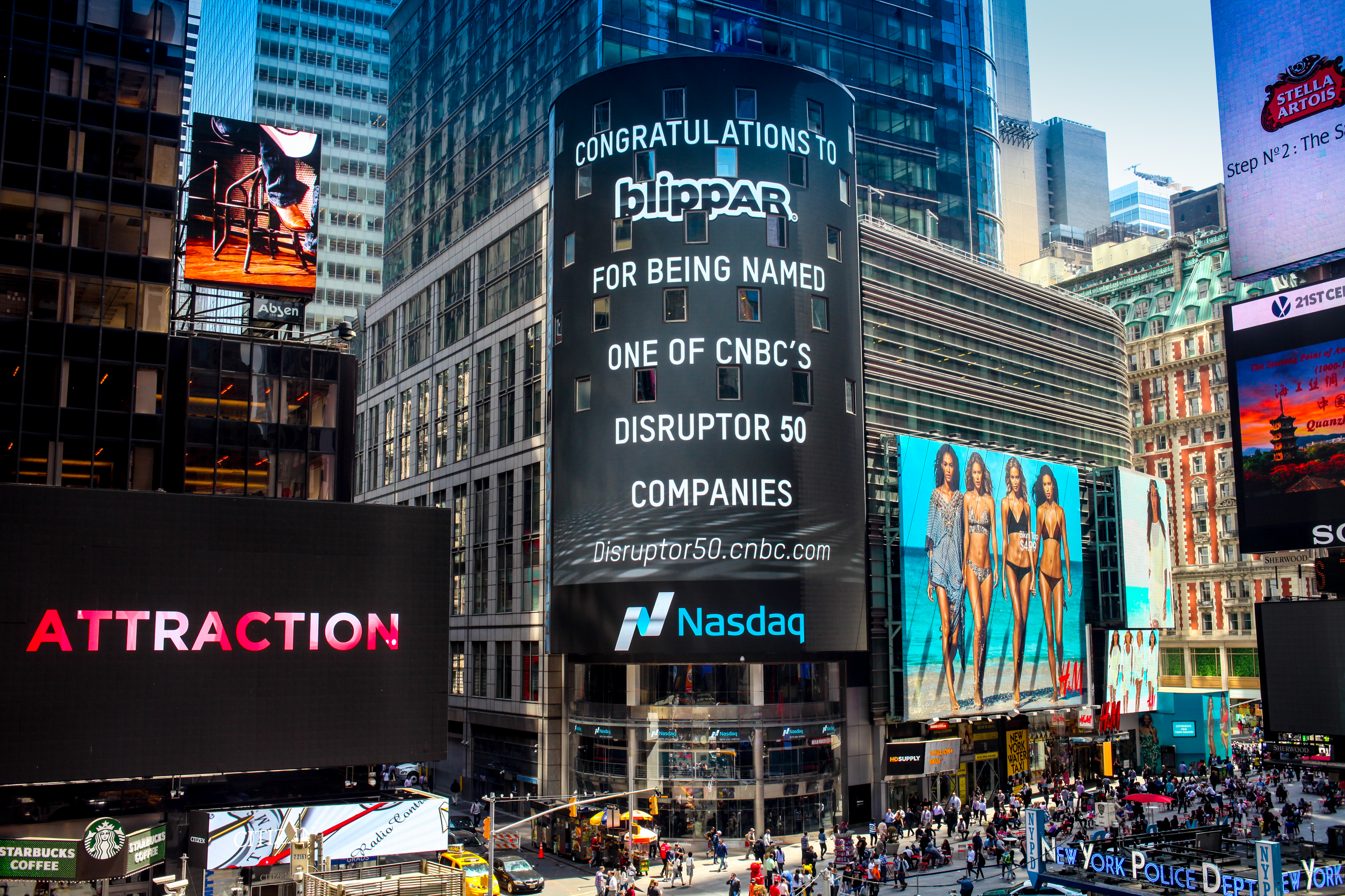 Blippar on NASDAQ Times Square - May 2015