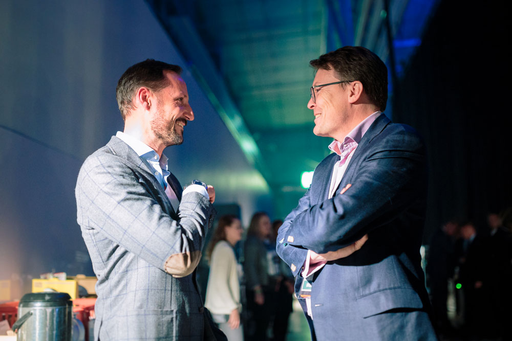 Crown Prince Haakon of Norway enjoyed his time at the #NordicMade Afterwork. Photo: Petri Anttila